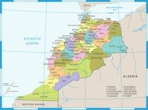 Carte du Maroc - illustration détaillée de vecteur Photo libre de droits