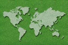 Carte du monde Photographie stock