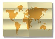 Carte du monde Images libres de droits