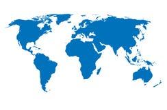 Carte du monde Photos libres de droits
