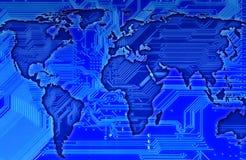 Carte du monde illustration de vecteur