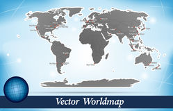 Carte du monde Photographie stock libre de droits