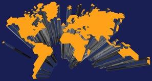 carte du monde 3D Images libres de droits