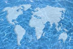 Carte du monde Photos stock