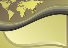 Carte du monde Photo libre de droits