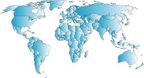 Carte du monde Image stock