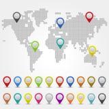 Carte du monde Images stock