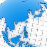 Carte du monde - Asie Photographie stock