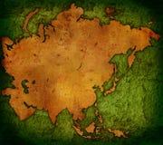 Carte du monde - carte de l'Asie illustration de vecteur