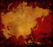 Carte du monde - carte de l'Asie illustration stock