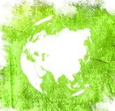 Carte du monde - carte de l'Asie Image stock