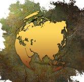 Carte du monde - carte de l'Asie Photographie stock