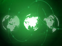 Carte du monde - carte de l'Asie Photographie stock libre de droits
