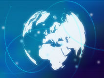 Carte du monde - carte de l'Europe Image stock