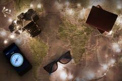 Carte du monde, concept de voyage Image libre de droits