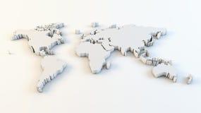 Carte du monde d'affaires illustration libre de droits