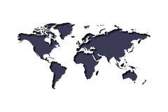 carte du monde 3d Formes de papier de carte de la terre d'art avec l'ombre Illustration de vecteur illustration de vecteur
