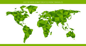 Carte du monde d'origami Images libres de droits