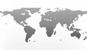 Carte du monde dans les points, petites lignes avec l'effet de gradient Centre à New York illustration de vecteur
