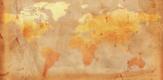 Carte du monde de cru Images libres de droits