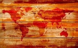 Carte du monde de cru Photographie stock