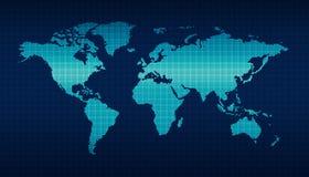 Carte du monde de Digital Image stock