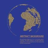 Carte du monde de Digital, concept global, illustration de vecteur Image stock