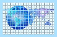 Carte du monde de Digitals ou planète de globe illustration libre de droits