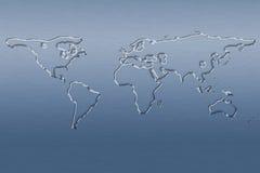 Carte du monde de l'eau Image libre de droits