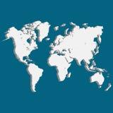 Carte du monde de la terre 3D de planète illustration stock