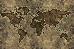 Carte du monde de parchemin Photographie stock