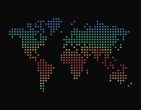 Carte du monde de points avec des zones climatiques, illustration colorée de vecteur illustration libre de droits