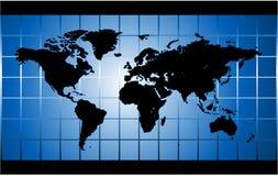 Carte du monde de vecteur Photographie stock libre de droits
