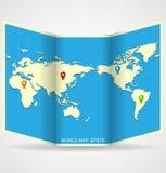 Carte du monde de vecteur Image stock