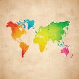 Carte du monde de vecteur Photos libres de droits
