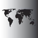 Carte du monde de vecteur Images stock