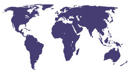 Carte du monde de vecteur Image libre de droits