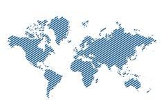 Carte du monde de vecteur illustration stock