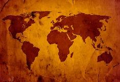 Carte du monde de XXL Photo libre de droits