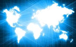 Carte du monde en technologie Photographie stock
