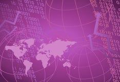 Carte du monde et numéros de Digitals Image stock