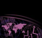 Carte du monde et numéros de Digitals Photo libre de droits
