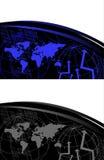 Carte du monde et numéros de Digitals Photos stock