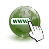 Carte du monde et World Wide Web Photo libre de droits