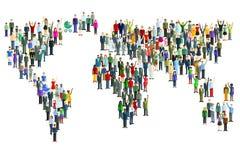 Carte du monde faite de personnes Image stock