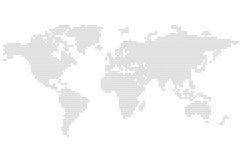 Carte du monde : grand dos - puzzle illustration stock