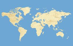 Carte du monde (grunge) Photos stock