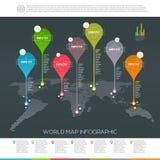 Carte du monde infographic Photographie stock libre de droits