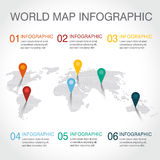 Carte du monde infographic Images stock