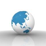 Carte du monde : l'Asie Images libres de droits